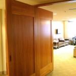 sliding double door