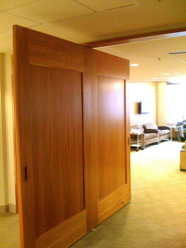 sliding double door